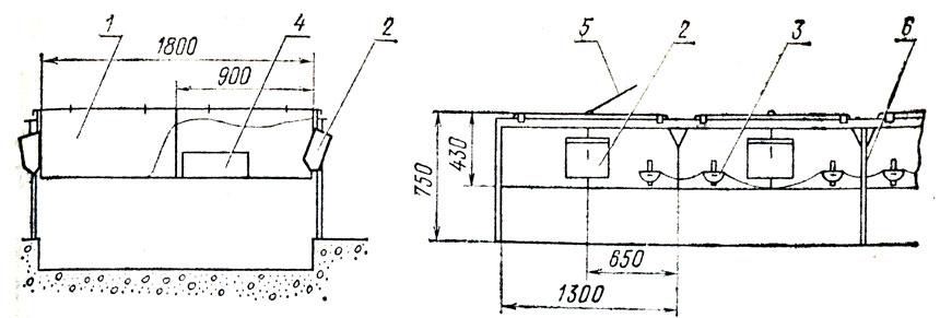 БККУ (схема): 1 - клетка
